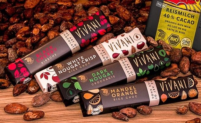 Vegane Nougat-Riegel von Vivani; Quelle: www.vivani-schokolade.de